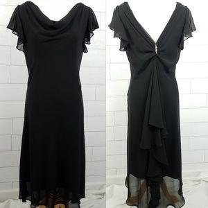 Dress Barn Collection Size 16 Black Dress Jeweled